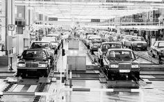 #MercedesW123 production line #MercedesBenzofHuntValley