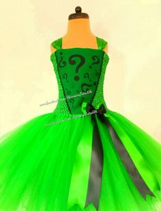 Hey, I found this really awesome Etsy listing at https://www.etsy.com/listing/583178657/villain-riddler-inspired-tutu-dress