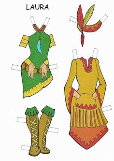 3 TEENS * Free paper dolls at Arielle Gabriel's The International Paper Doll Society
