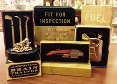 A little selection of men's gifts that we have in store in Breda's Gift Shop.