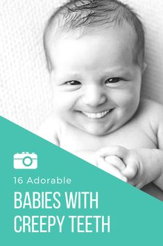 We can all agree that babies are adorable and that a nice set of pearly whites is desirable. That said theres something about babies with teeth that is well hilariously creepy. Funny Babies, Cute Babies, Little Babies, Baby Kids, Newborn Baby Care, Newborn Baby Photography, Baby Online, Baby Hacks, Mom Humor