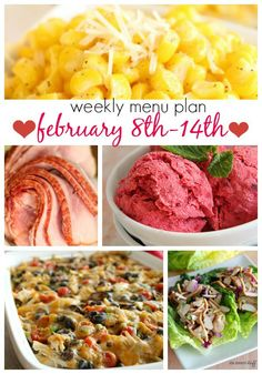 Weekly Menu Plan February 8-14 from Six Sisters' Stuff | This weeks menu plan is a lot of fast and easy dishes that taste absolutely amazing and have a great variety!