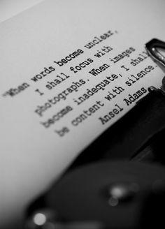 #silence #photography #Ansel Adams