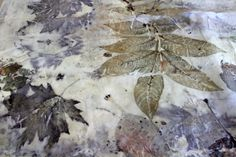 ecoprinted silk YOD by Yana Dvoretska