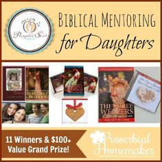 Biblical Tools for Mentoring Your Daughter (+ 11-Winner Giveaway!) - http://www.proverbialhomemaker.com/biblical-tools-for-mentoring-your-daughter.html