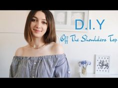 DIY: Convert Men's shirt / T-shirt to off shoulder top | Recycle old shirt - YouTube