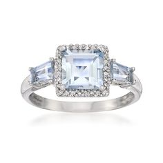 Pretty aquamarine ring.