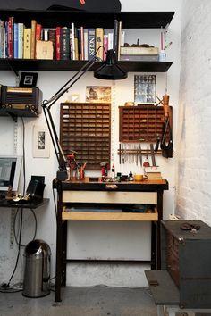 Jewellers studio.