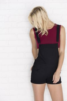 Short black overalls - New Arrivals. Ooo maybe I need some in black too