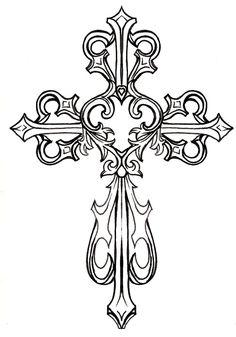 about Cross drawing on Pinterest | Cross tattoo designs Cross tattoos ...