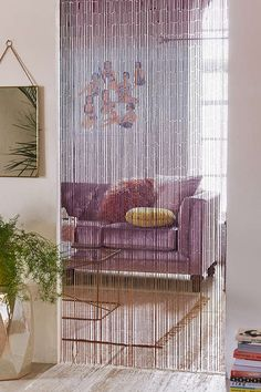 Slide View: 2: Ombre Bamboo Beaded Curtain