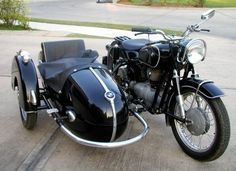 Old Motorcycles with Sidecars