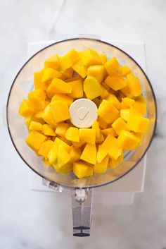 3 Ingredient Mango Sorbet (Without an Ice Cream Maker! Mango Muffins, Healthy Fruits And Vegetables, Mango Sorbet, Ice Cream Maker, Frozen Treats, 3 Ingredients, A Food, Food Processor Recipes
