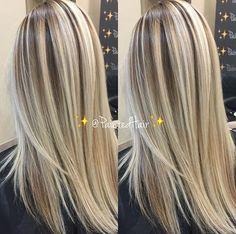 Dark Blonde Hair Color, Hair Color Highlights, Silver White Hair, Corte Y Color, Natural Hair Styles, Long Hair Styles, Great Hair, Balayage Hair, Hair Dos