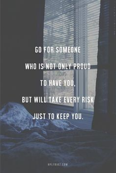 Go for someone..