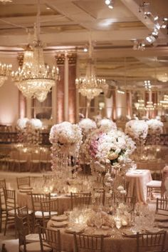 white lilac centerpieces - Google Search