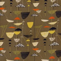 Calyx furnishing fabtric (1951) Robin and Lucienne Day foundation #npgmorris