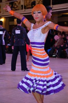 Name unknown | Blackpool Dance Festival 2013 - even the hair colour matches with the dress :)