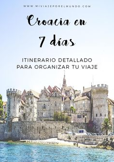 Qué ver en Croacia en 7 días - Funny Tutorial and Ideas Places To Travel, Travel Destinations, Places To Visit, Travel Europe, Dubrovnik, Travel Guides, Travel Tips, Croatia Travel Guide, Gap Year