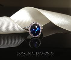Antique looking sapphire and diamond ring