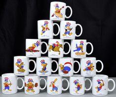 Olympics 1984 Summer Games 15 Coffee Mug Lot USA Sam The Eagle Los Angeles Papel #Papel #USA