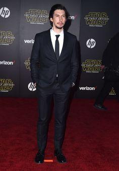 """Adam Driver à la première du film Star Wars """" Le Réveil de la Force"""", à Los Angeles"""