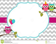 Illustration about Invitation card template with party owls. Owl Parties, Owl Birthday Parties, Owl Birthday Invitations, Owl Templates, Invitation Templates, Owl Theme Classroom, Free Printable Stationery, Owl Card, Owl Cartoon