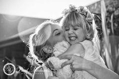 Bride Tori with flower girl. Wellington wedding photography http://www.paulmichaels.co.nz/