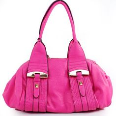 Amazon.com: New Arrival Designer Inspired Fashion Unique Shape Tote Satchel Shoulder Handbag Purse in Fuchsia Hot Pink: Clothing $45.99