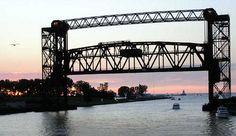 Lift Bridge in Cleveland, Ohio - Lovely!  #cle #216 #bridge #thisiscle