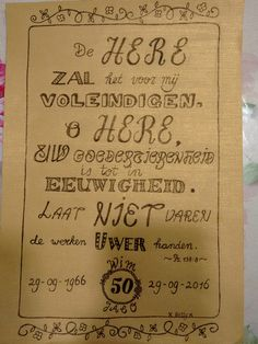 Made by Betty #hand lettering #50 years marriage