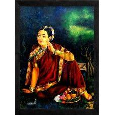 Ravi Varma Lady   #Ravivarmapaintings #Artgallery