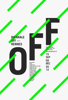 Collectif Le jardin graphique, Biennale Off, affiches, Rennes, 2016 - Posters Web Design, Layout Design, Logo Design, Shape Design, Design Art, Design Ideas, Web Layout, Design Color, Design Tutorials
