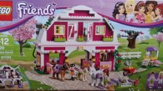 Lego Friends Sunshine Ranch : eBay $41.00.  Not too bad a price.  Great set, comes with 2 horses and a foal, a kitten, 2 bunnies & a chicken. Love the white door inserts with the hot pink and white printing.  I'd like to have 10 of this.