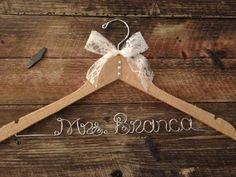 BURLAP Wedding Hanger / Rustic Elegance Wedding / by GetHungUp, $38.00