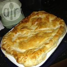 Chicken and leek pie. Sauce made from flour and milk. Very tasty and easy to make. Will cook this again.