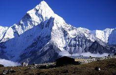 Himalaya Mountains Landscape Nepal Stock Photo Image