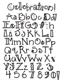 Not a link to the alphabet. Would love to find it. Image detail for -Creative Lettering Doodle Fonts, Doodle Lettering, Creative Lettering, Lettering Styles, Creative Writing, Lettering Ideas, Doodle Doodle, Lettering Tutorial, Hand Lettering Alphabet