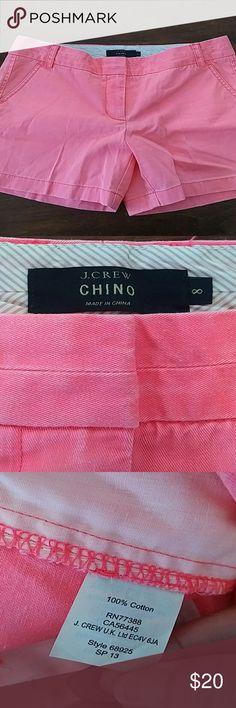 J Crew chino shorts J Crew chino shorts.  Florescent orange.  Size 8 worn once J. Crew Shorts