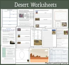 14 pages of Desert Worksheets for 1st-3rd Graders: definitions, Major deserts of the world, fill-in-the-blank, desert animals, reading comprehension, and more!