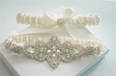 Garters / Garter Set / Wedding Garters / by GartersByGarterLady, $45.00