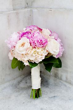 Peonies in bridal bouquet!