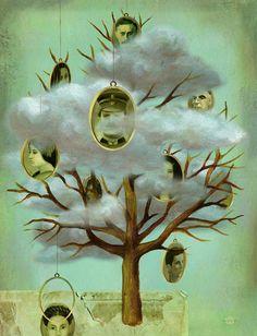 Genetic memory and trauma - alice-wellinger Genetics, Trauma, Illustrators, Graphic Art, Pattern Design, Illustration Art, Editorial, Alice, Memories