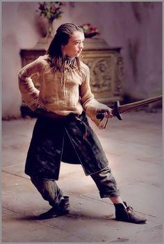 """Maisie Williams, """"Game of Thrones"""", 2011 #sword"""