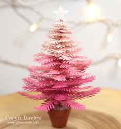 One of my favourite Concord and 9th products is the Take a Bough die set.  It is SO unique and gives SO many options to create ALL kinds of different things.  I've made a cute little pink, hombre tree which I sprayed with lots of shimmer - it's adorable in real life!!