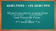 Grammar - French adjectives