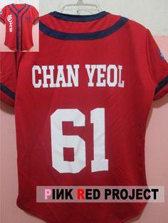 #EXO #GROWL #JERSEY #CHANYEOL #XOXO #PinkRedProject
