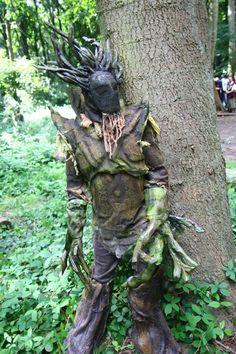 Dryads - Hiding behind trees by ~Mandala-Studios on deviantART