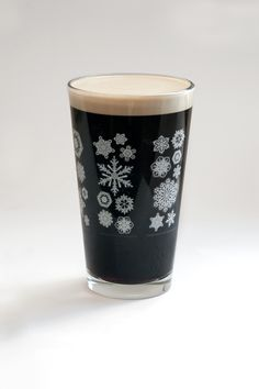 Pop Chart Lab --> Design + Data = Delight --> The Fractal Formations of Snowflakes Pint Glass