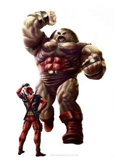 Juggernaut and Deadpool by ~MOROTEO56 on deviantART